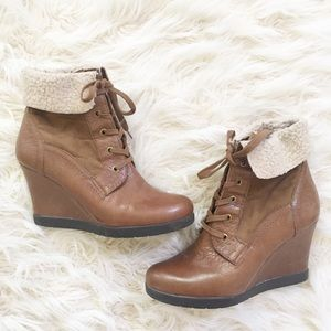 Franco Sarto lace up booties